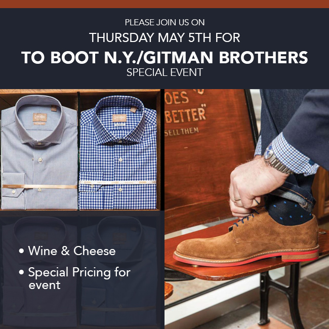 To Boot N.Y./Gitman Brothers Special Event