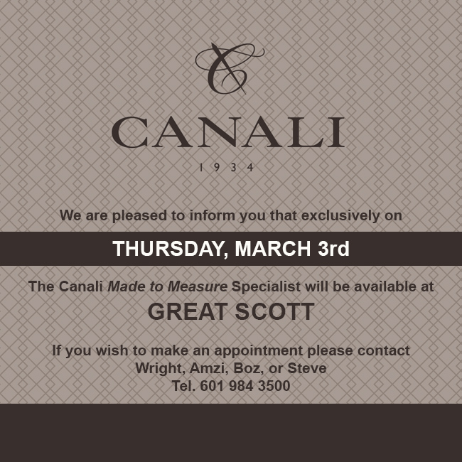 The Canali Made to Measure Event