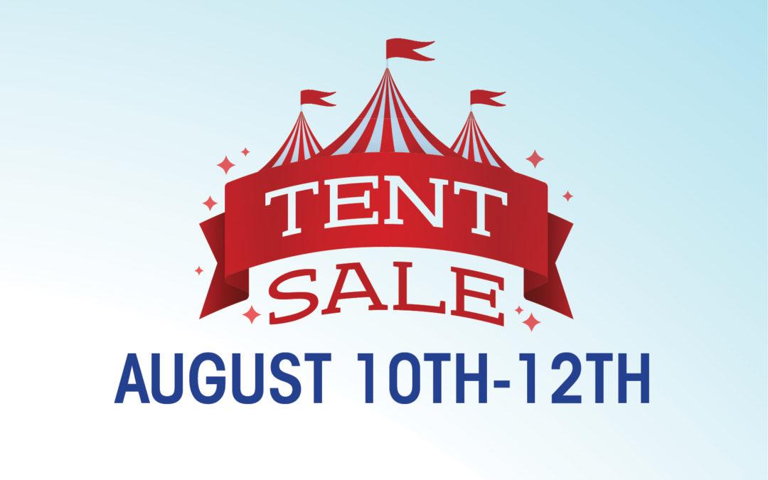 Great Scott's Famous Tent Sale is Back!