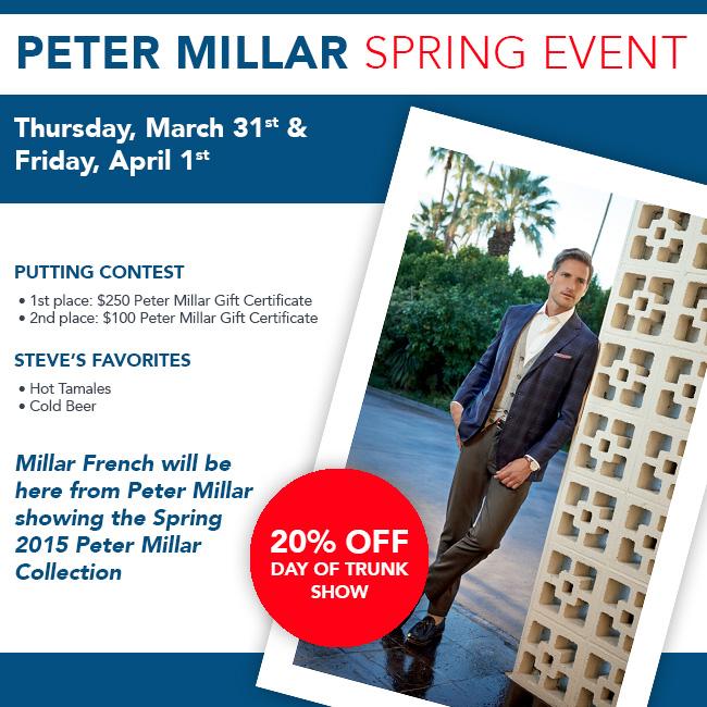 Peter Millar Spring Event