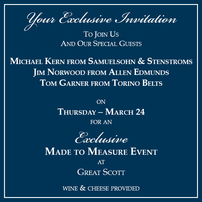 Exclusive Made to Measure Event