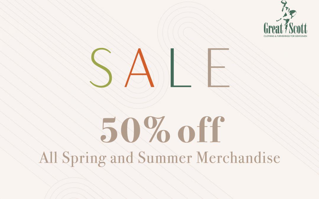 50% Off Spring & Summer MerchandiseHappening now!