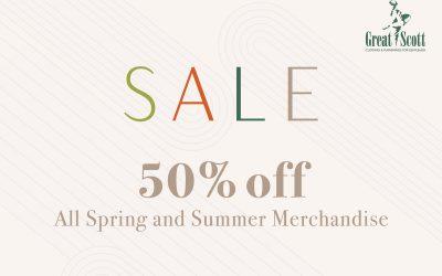 50% Off Spring & Summer Merchandise