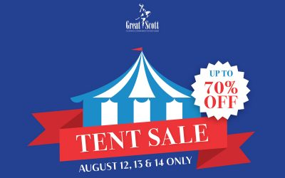 Save up to 70% at our Tent Sale!